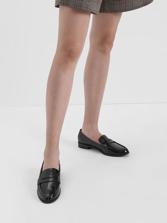 Classic Penny Loafers, Black