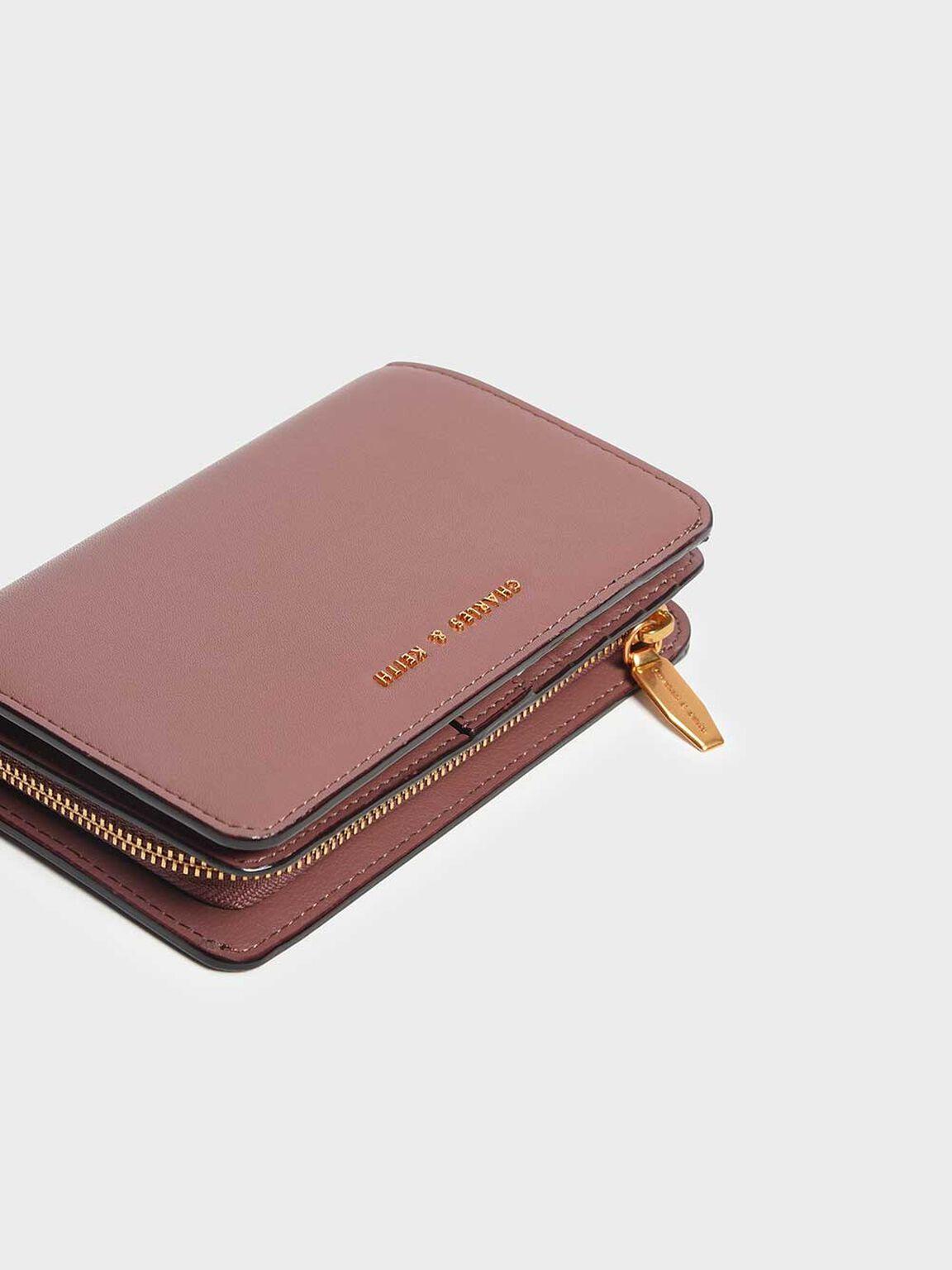 Classic Zipped Wallet, Mauve, hi-res