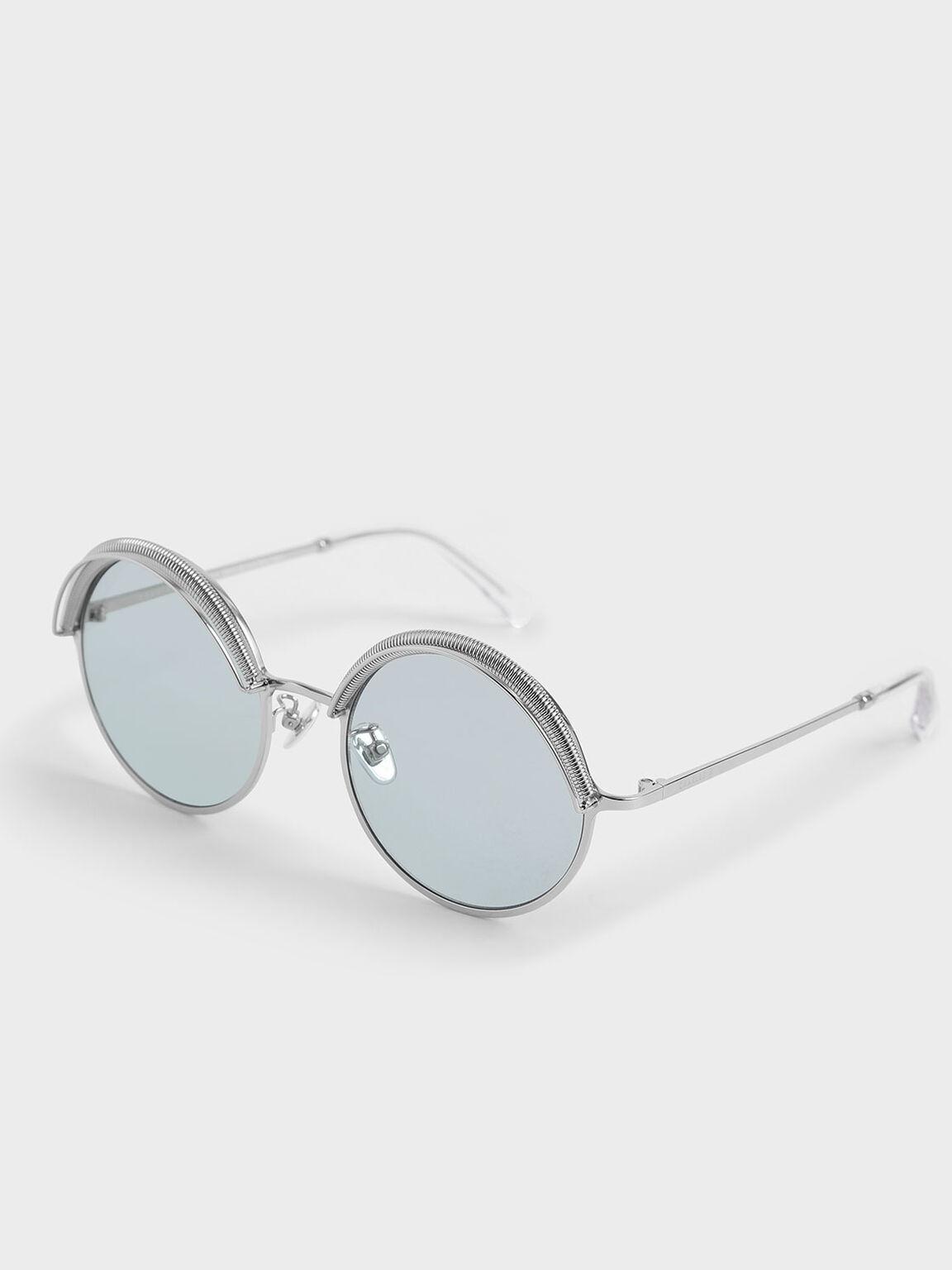 半框圓型墨鏡, 藍色, hi-res