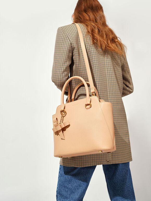 Large Classic Handbag, Nude, hi-res
