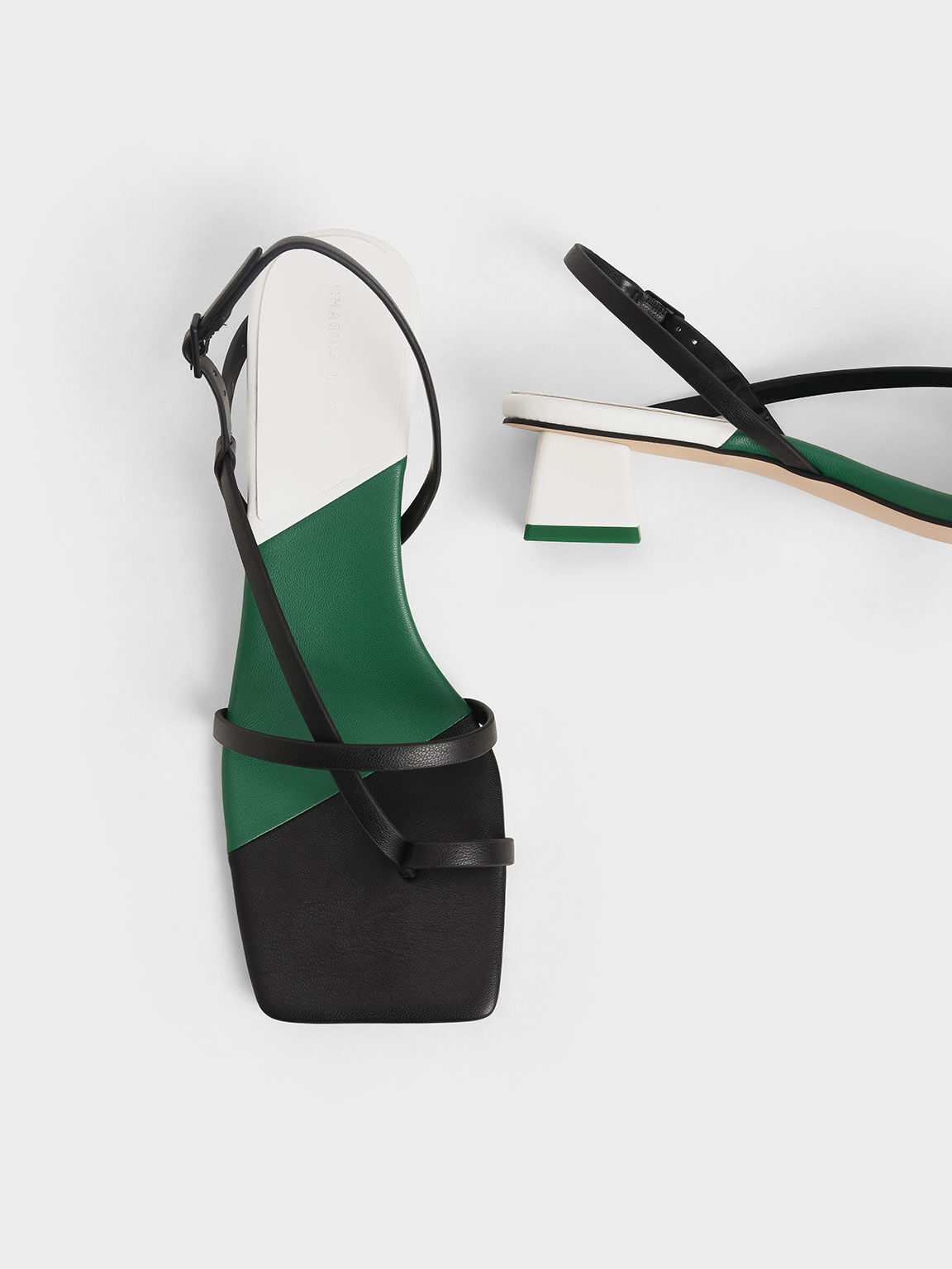 Strappy Slingback Sandals, Multi, hi-res