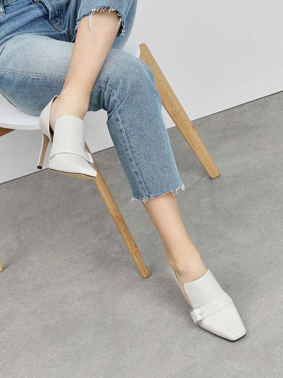 Extended Topline D'Orsay Heels, Chalk