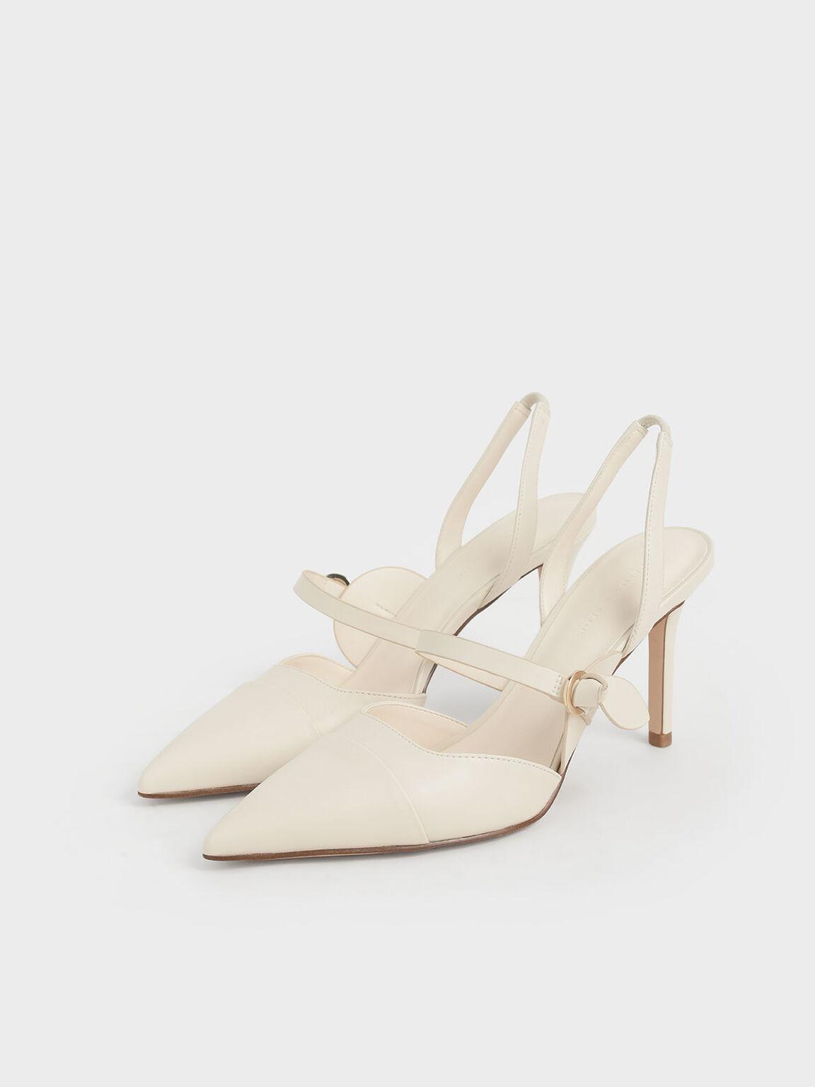 尖頭瑪莉珍跟鞋, 奶油色, hi-res