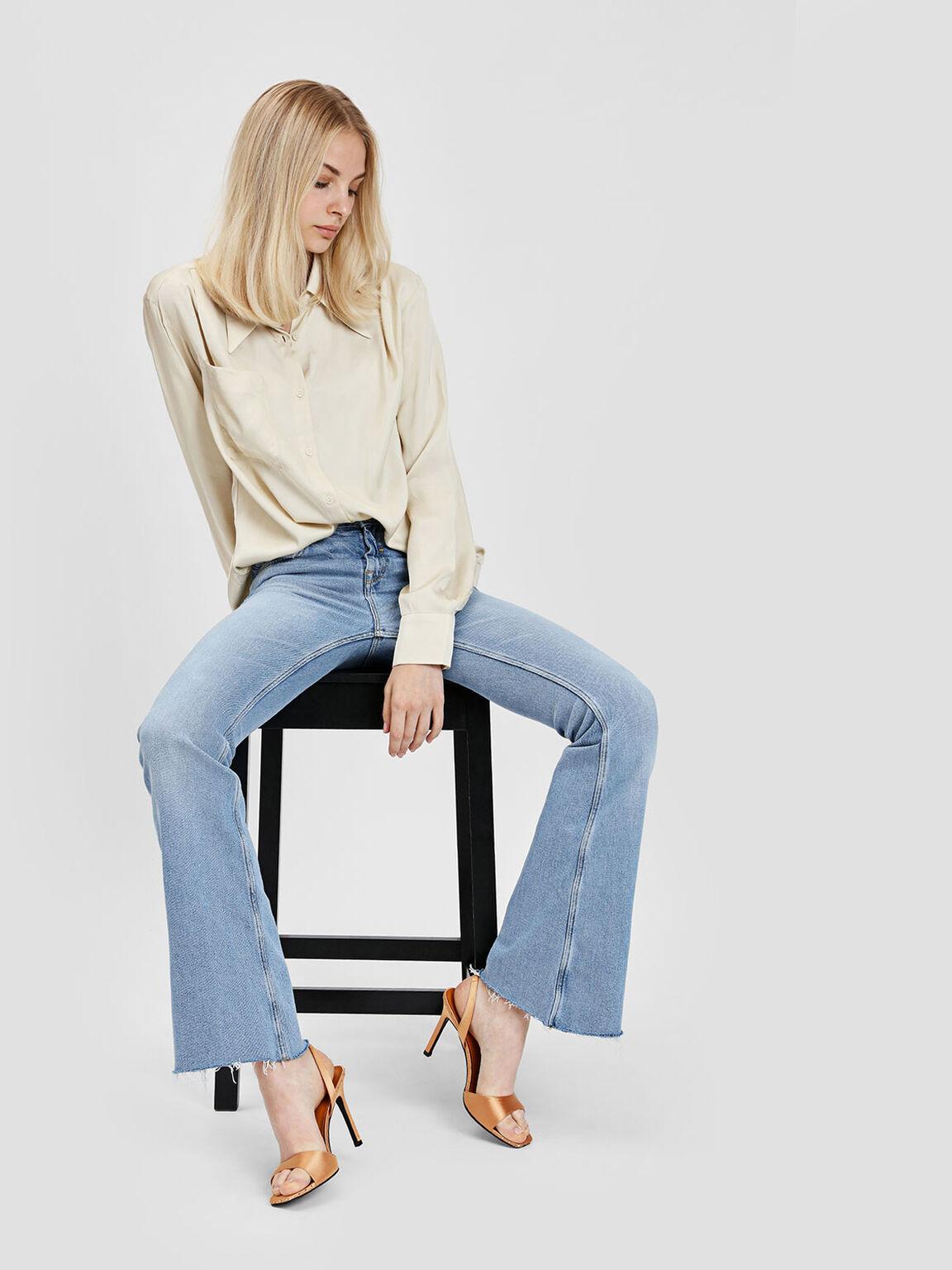 Embellished Square Toe Slingback Heels, Mustard, hi-res