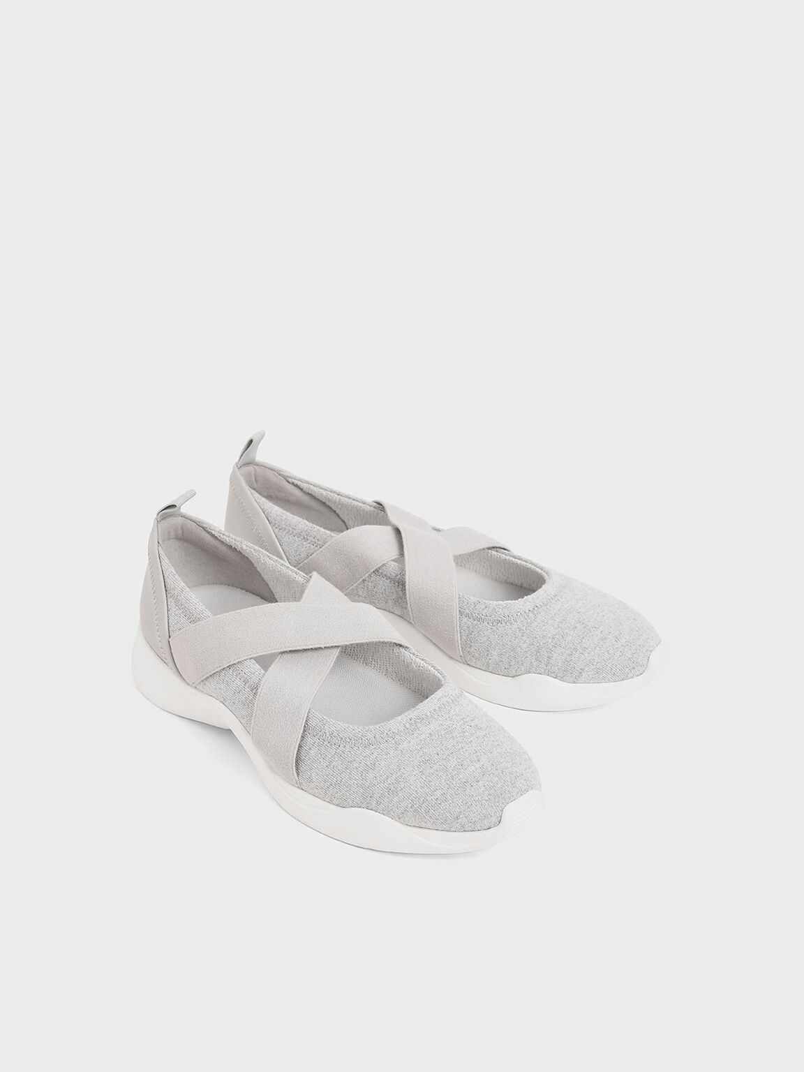 Criss-Cross Slip-On Sneakers, Grey, hi-res