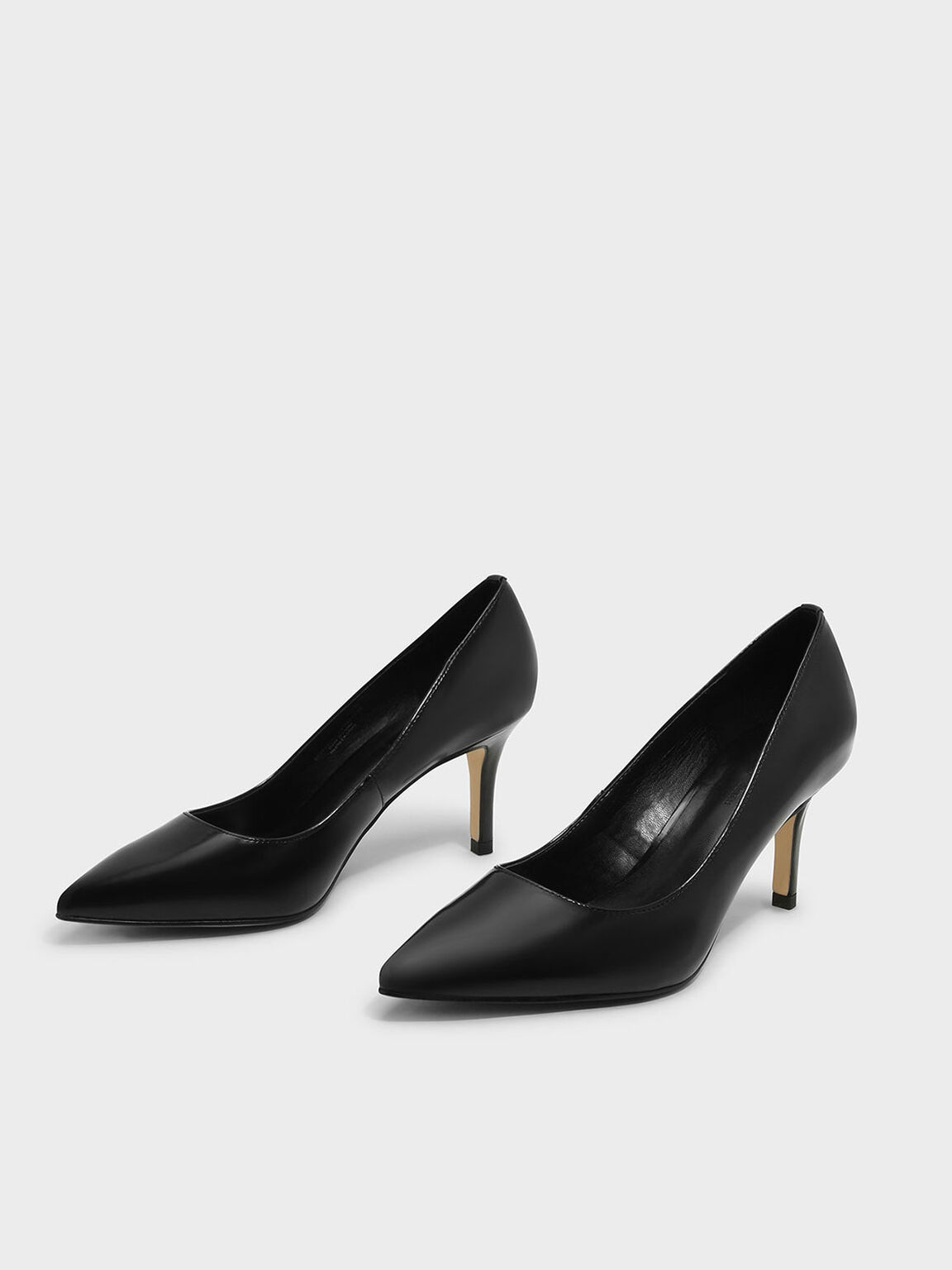 Basic Pointed Pumps, Black, hi-res