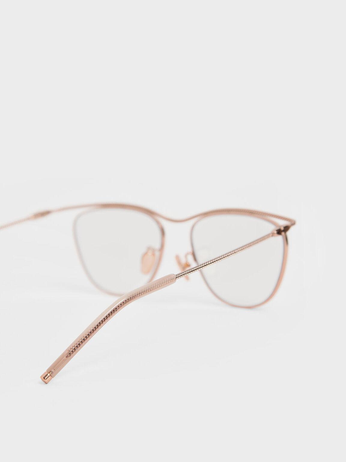 Wireframe Sunglasses, Rose Gold, hi-res