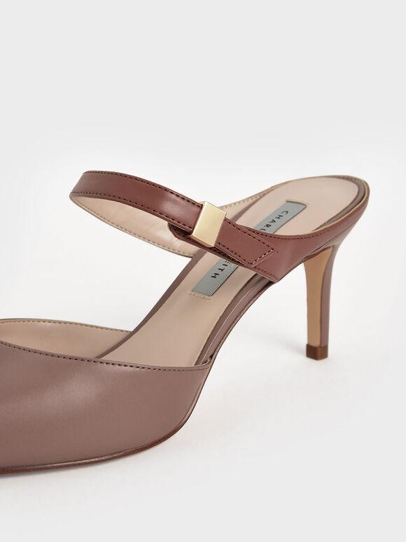 Ankle Strap Mules, Mauve, hi-res