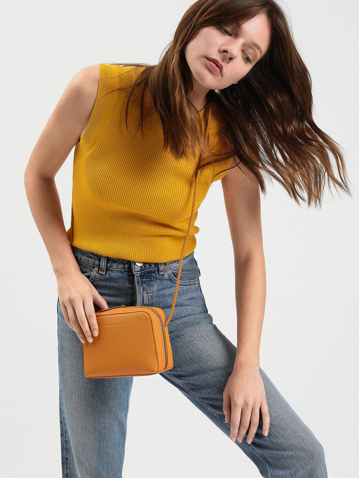 Small Crossbody Bag, Mustard, hi-res