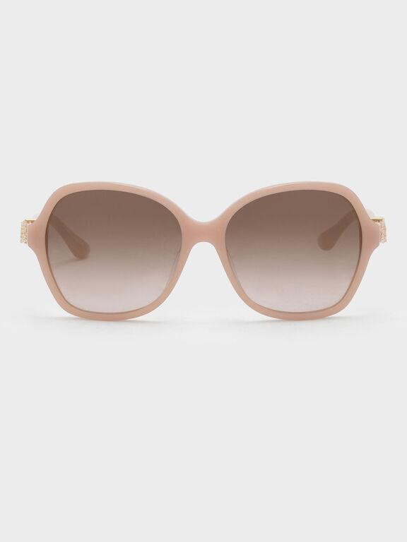 Embellished Butterfly City Eyewear, Pink