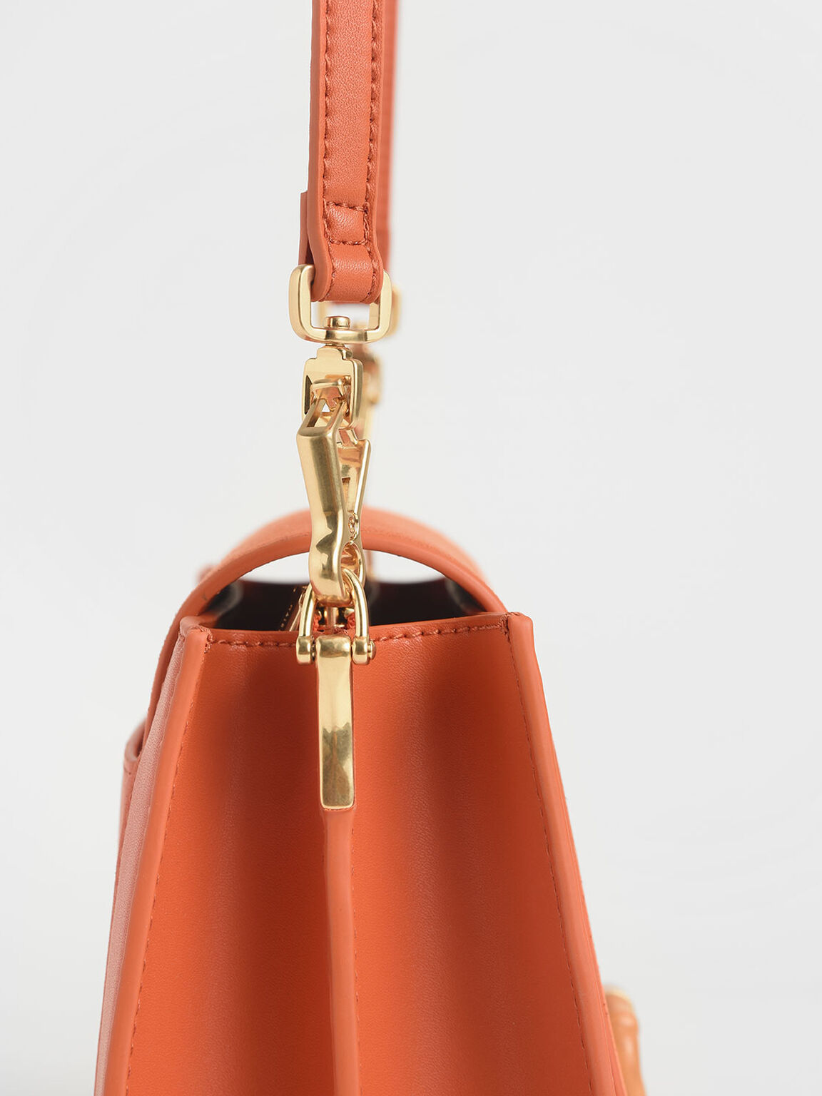 Textured Crossbody Bag, Orange, hi-res