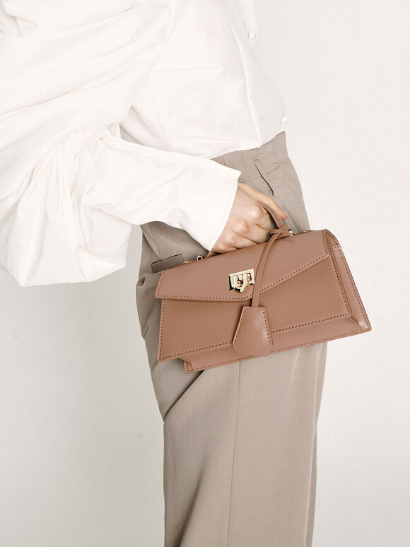 梯形手提包, 膚色, hi-res