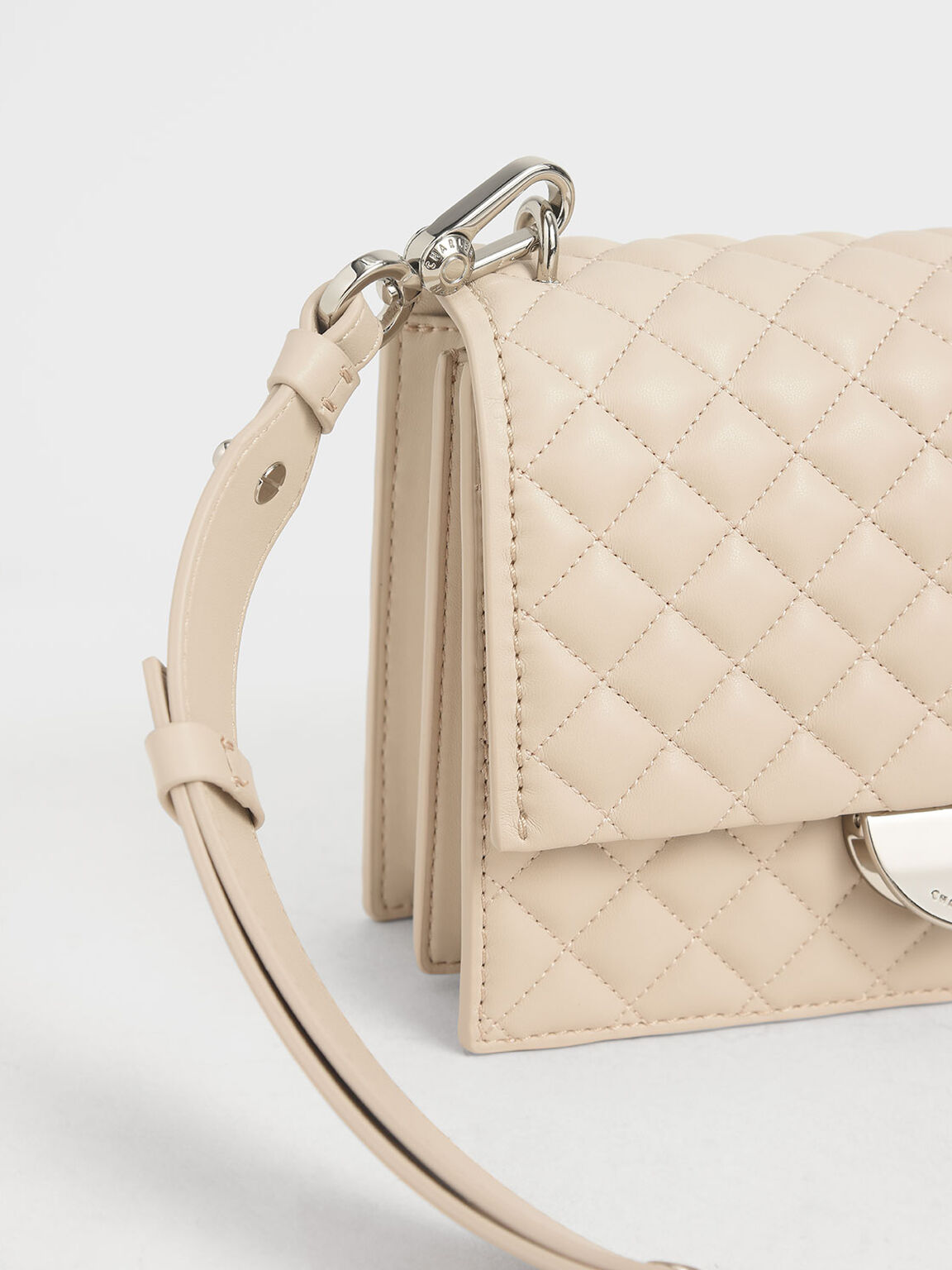 Quilted Crossbody Bag, Chalk, hi-res