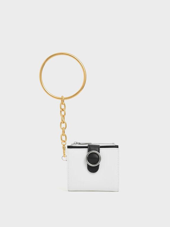 Small Bracelet Wallet, White