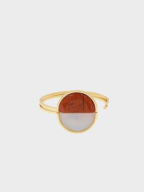 Opal Cuff Bracelet, Red