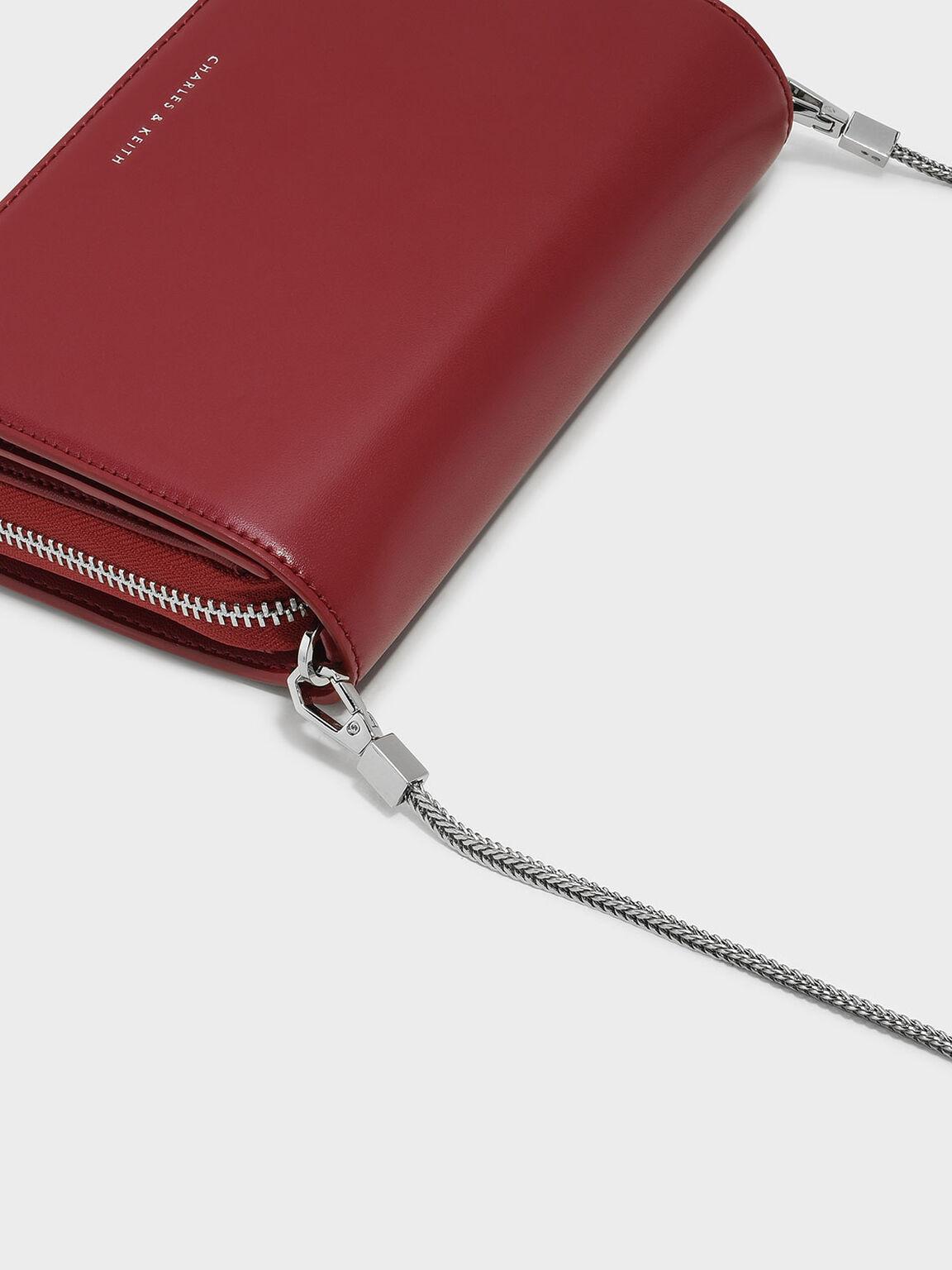 Front Flap Sling Bag, Red, hi-res