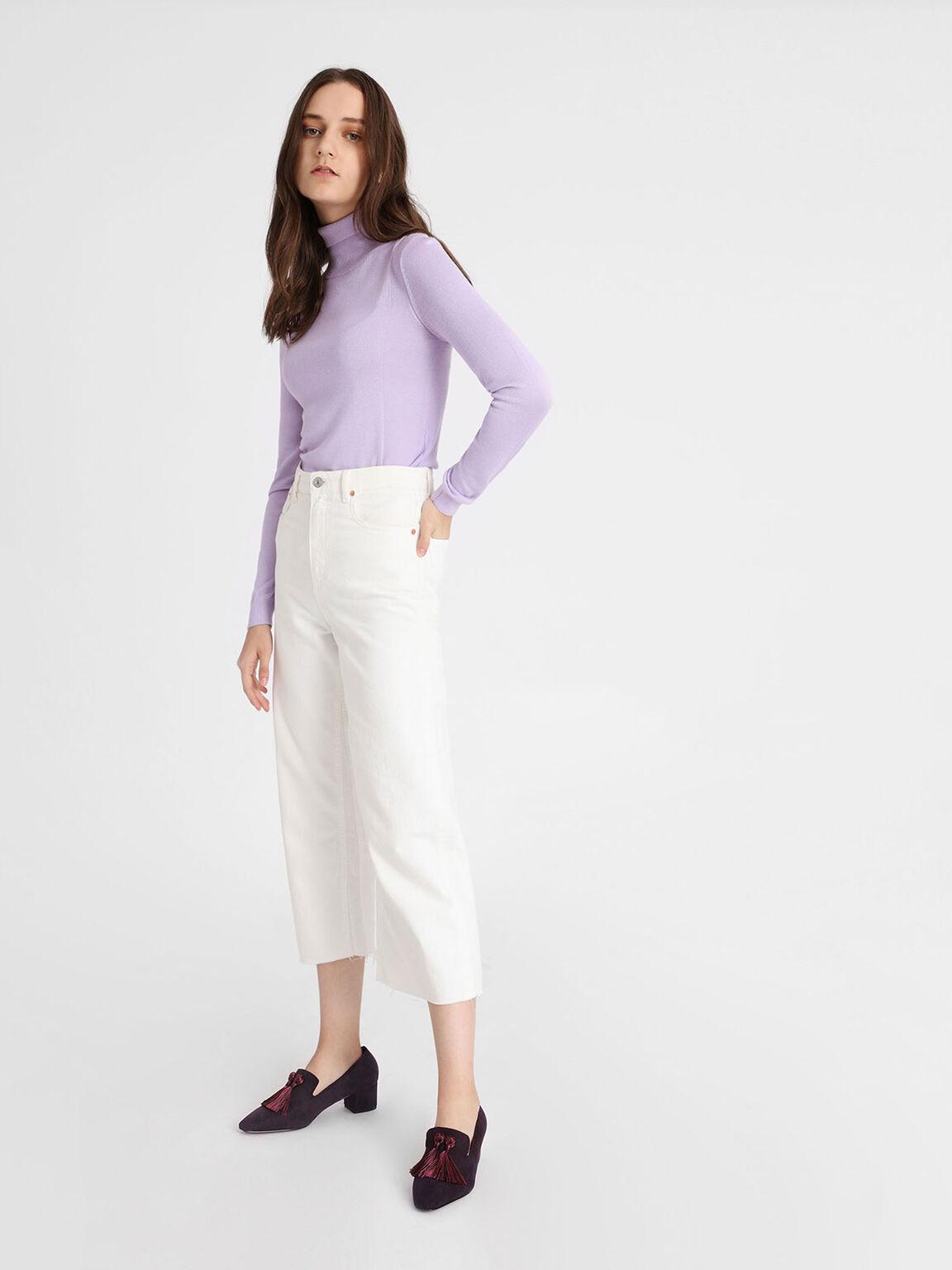 華麗流蘇樂福鞋, 紫色, hi-res