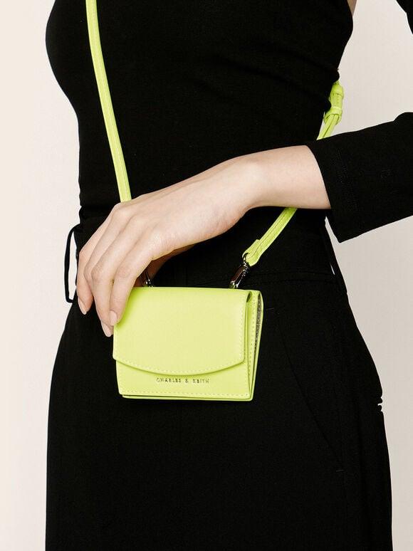 미니 쇼트 월렛, Neon Yellow, hi-res