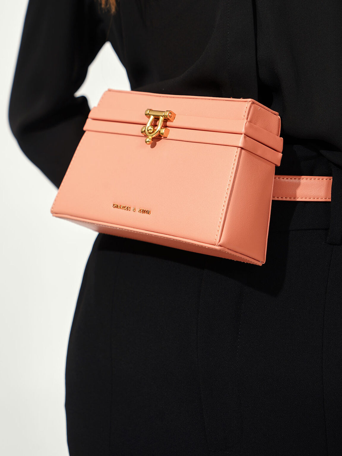 Trapeze Belt Bag, Peach, hi-res