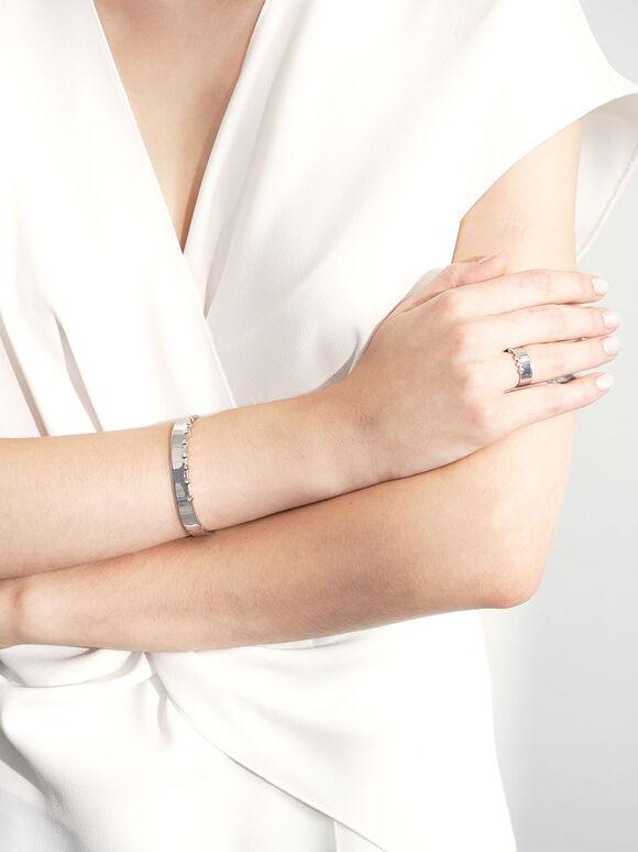 施華洛世奇®水晶鑲嵌寬戒, 銀色, hi-res