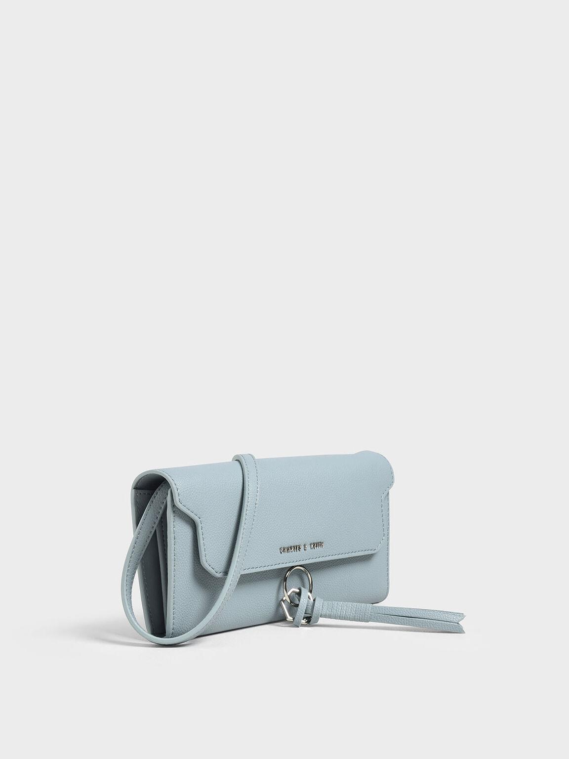 Tassel Wallet, Slate Blue, hi-res