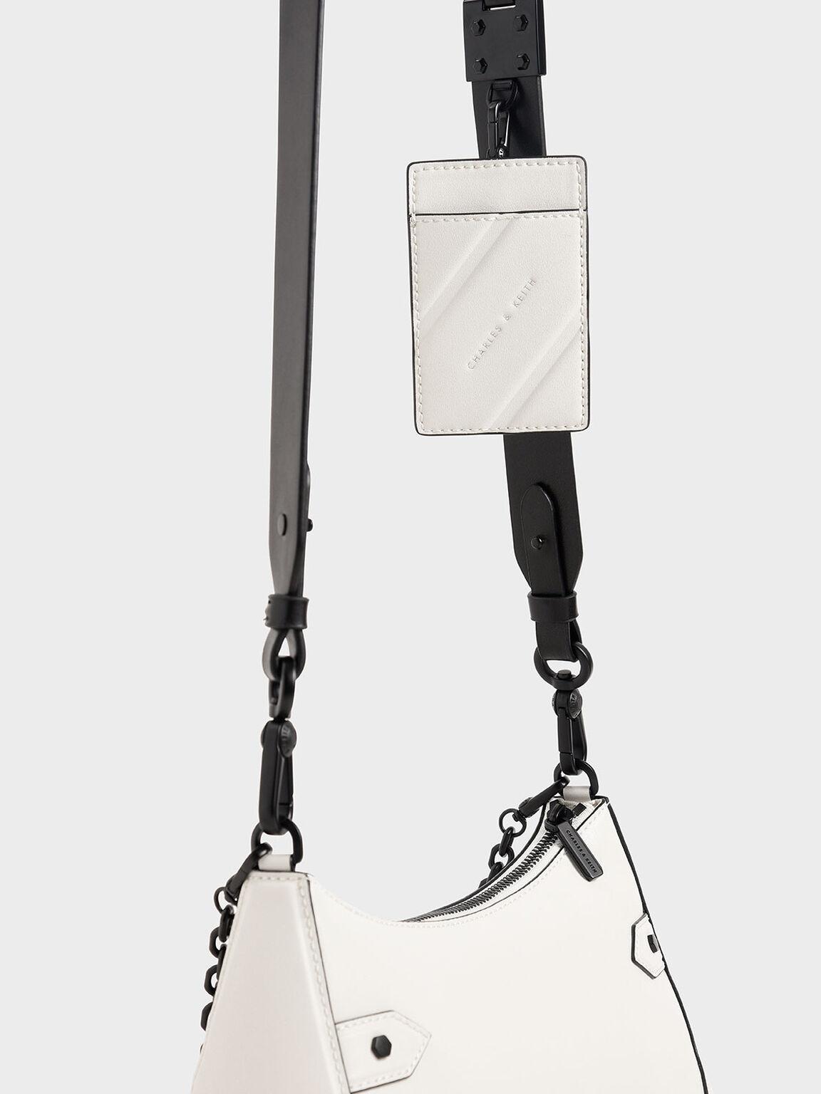 Chain Handle Bag, White, hi-res
