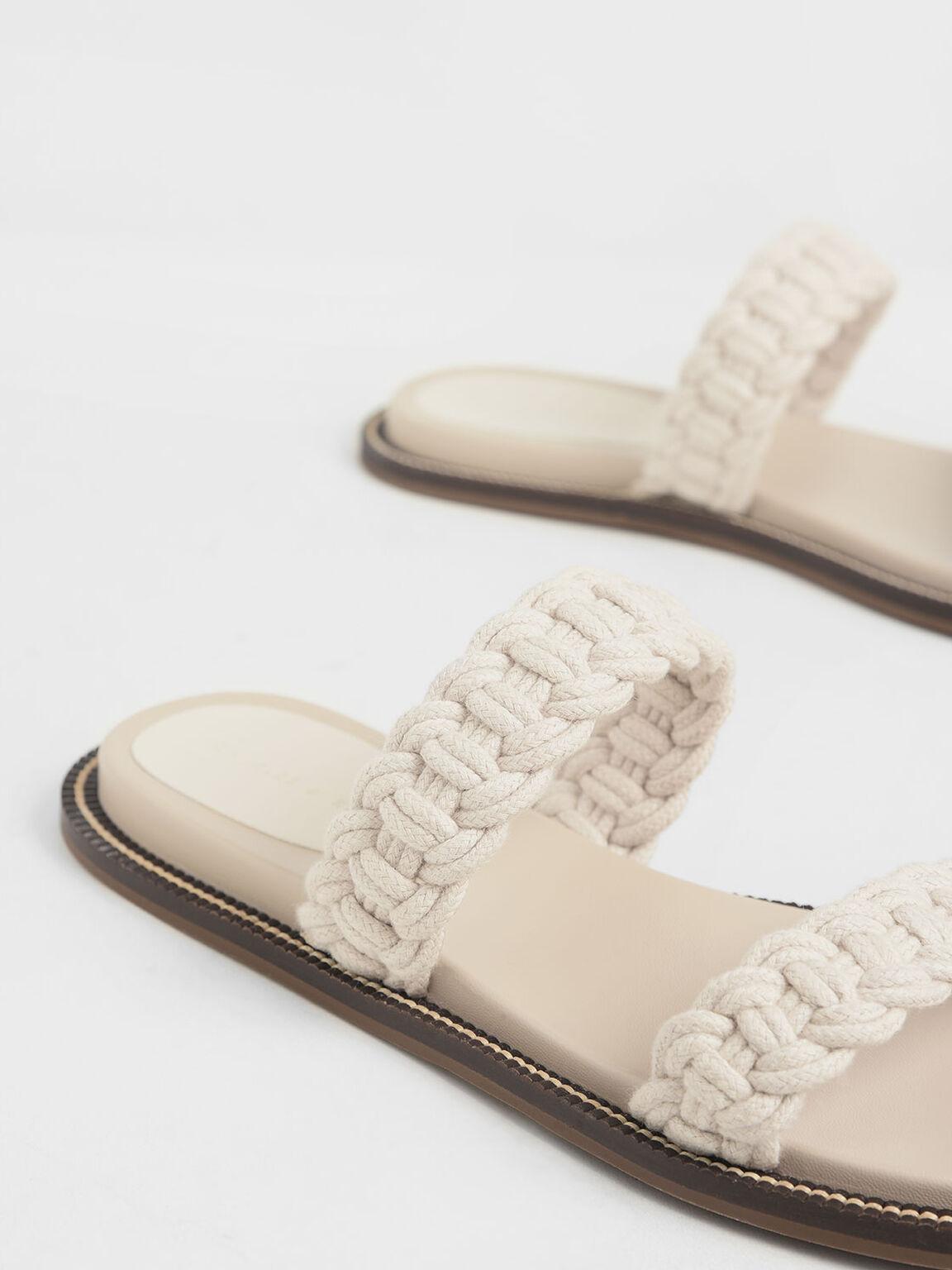 Rope Slide Sandals, Chalk, hi-res