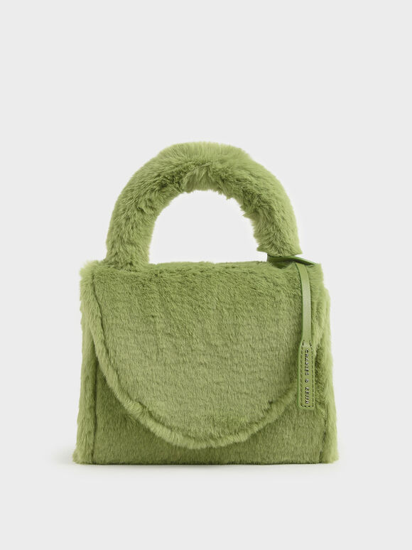 Textured Structured Bag, Green, hi-res