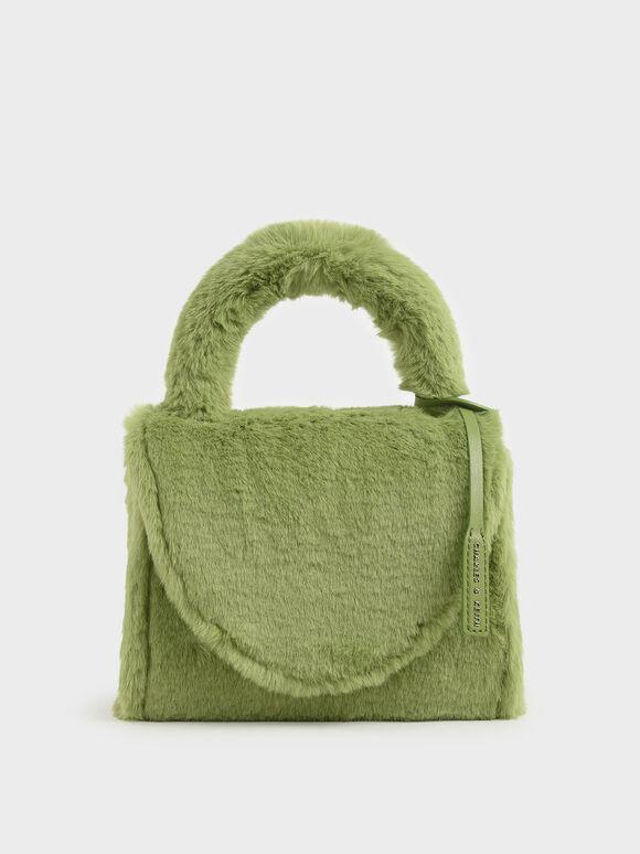 Textured Structured Bag, Green, hi-res