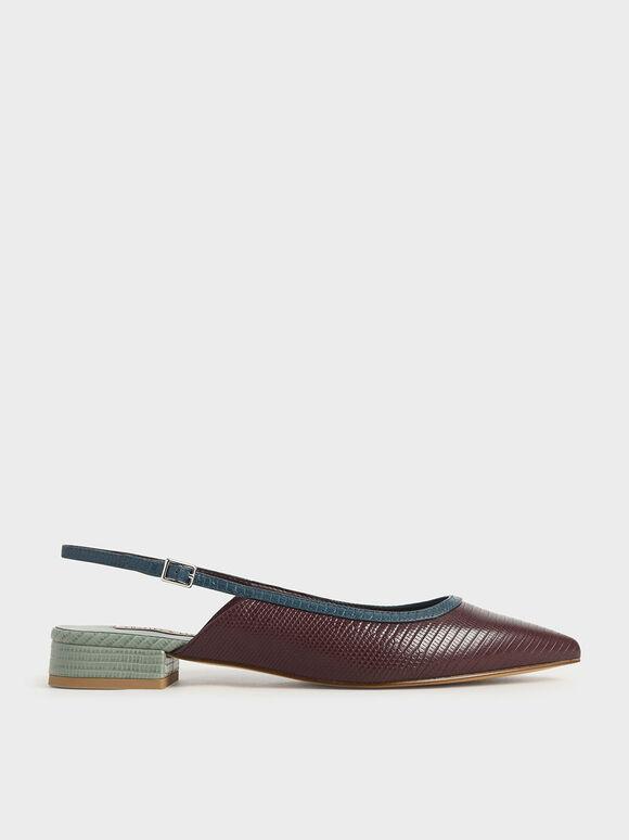 後繞帶尖頭鞋, 咖啡色動物紋, hi-res