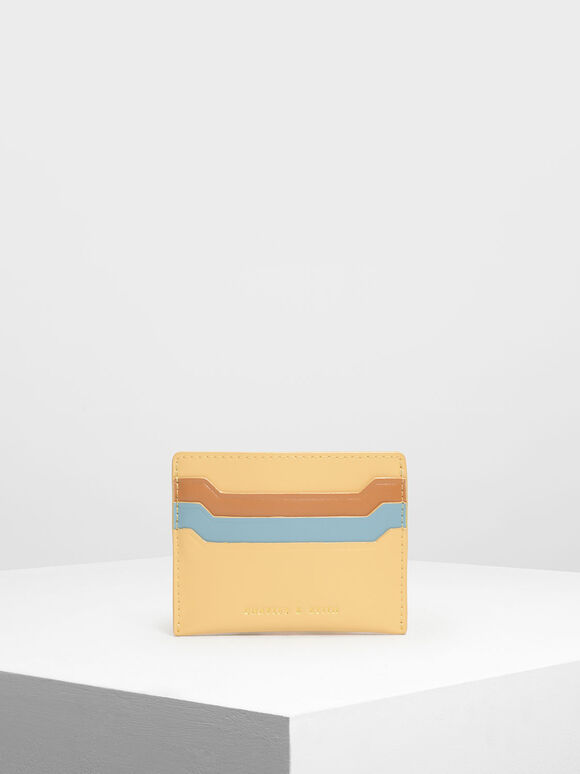 Multicolour Card Holder, Yellow, hi-res