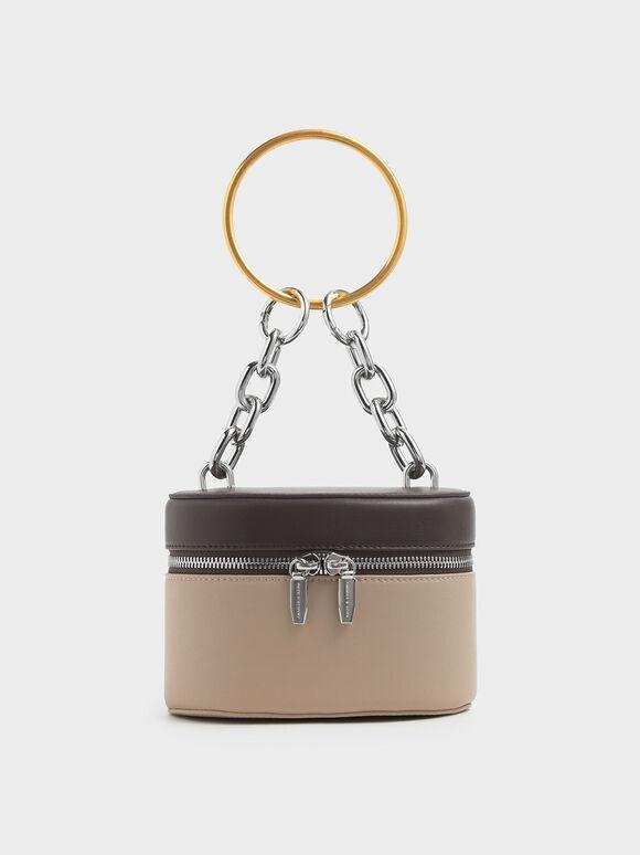 Bracelet Round Bag, Beige, hi-res