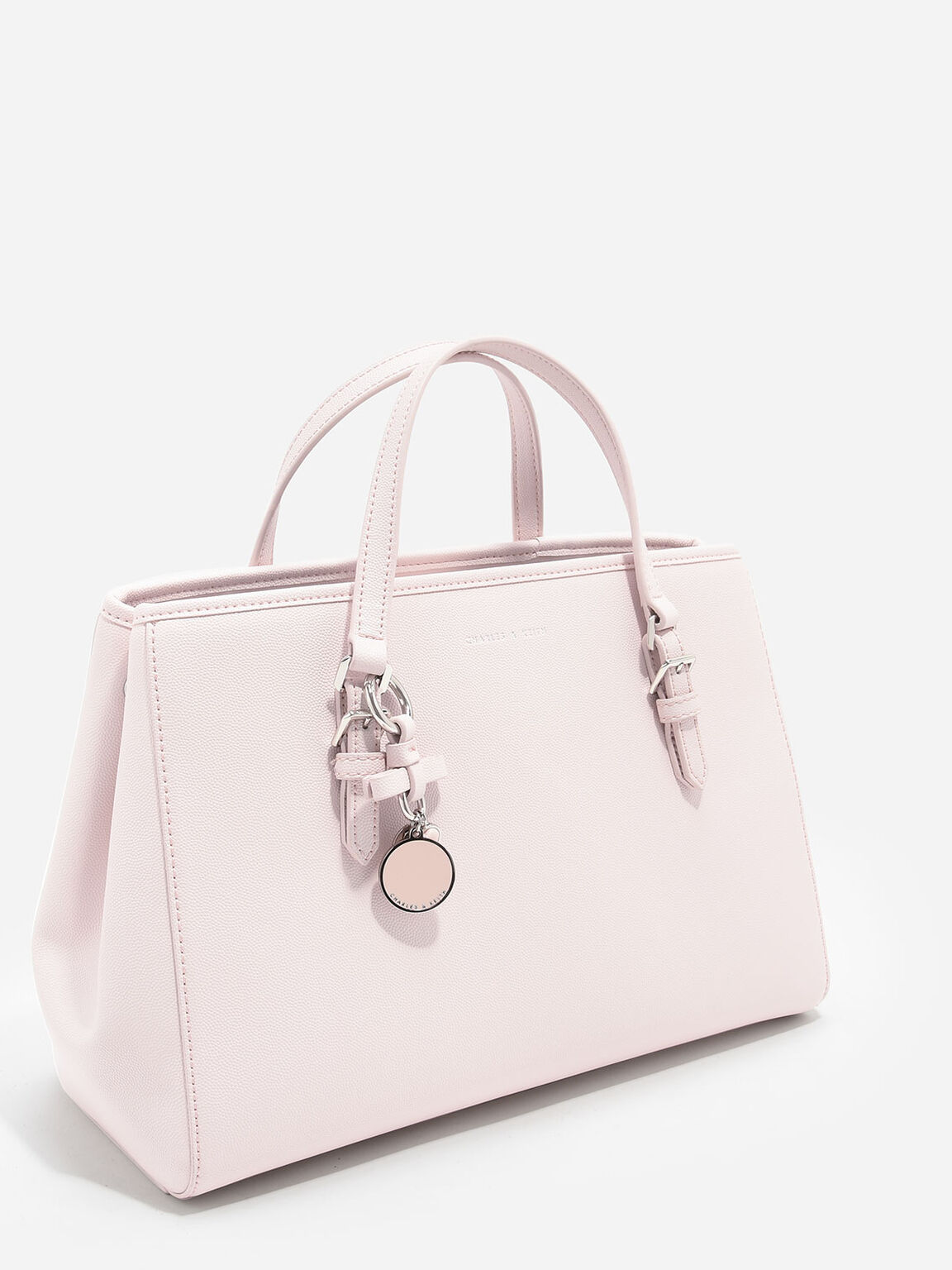Bow Detail Tote Bag, Pink, hi-res