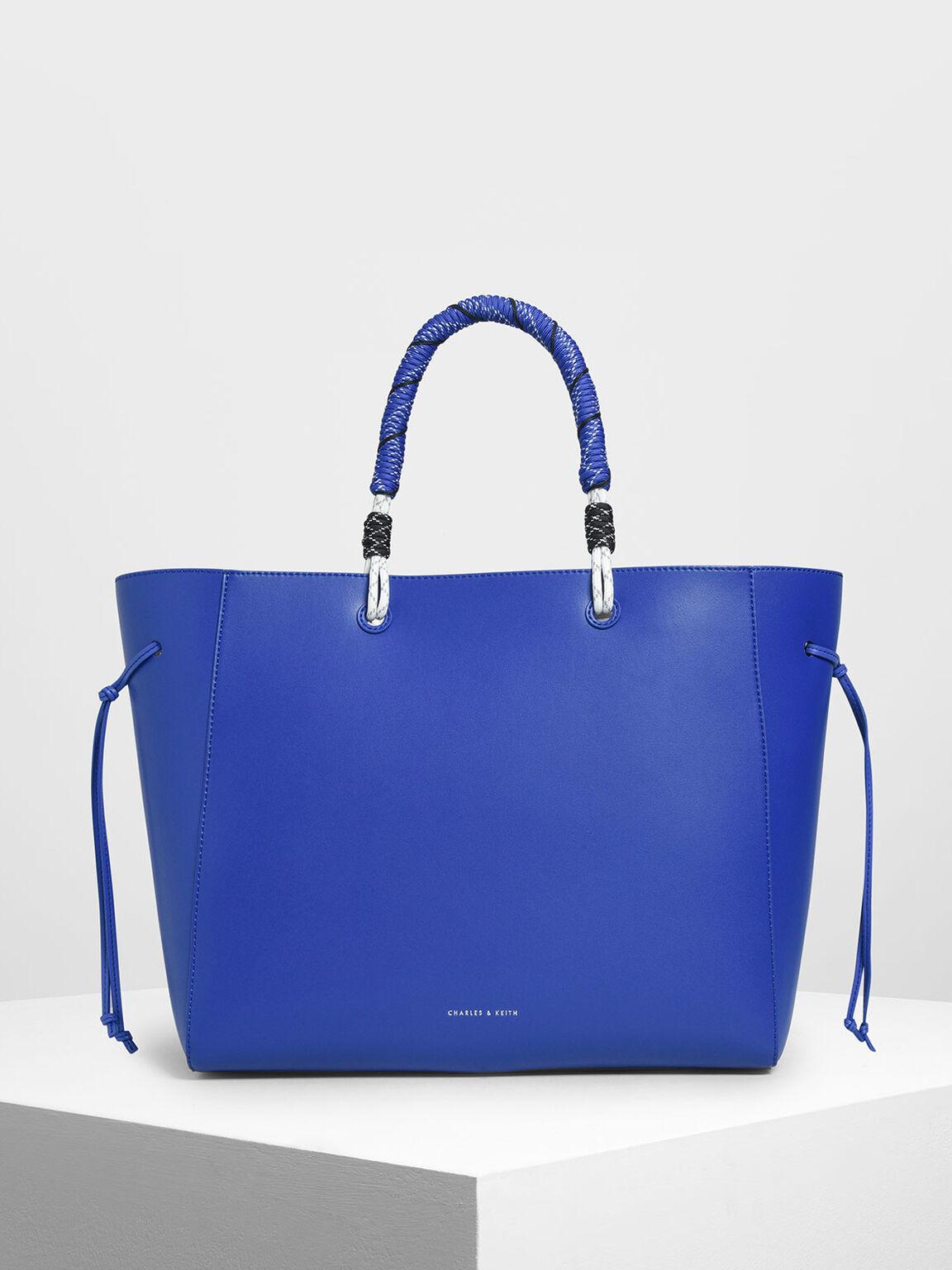 Nylon Twist Tote Bag, Blue, hi-res