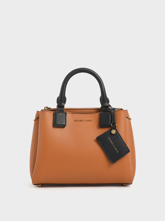 Classic Structured Bag, Tan, hi-res