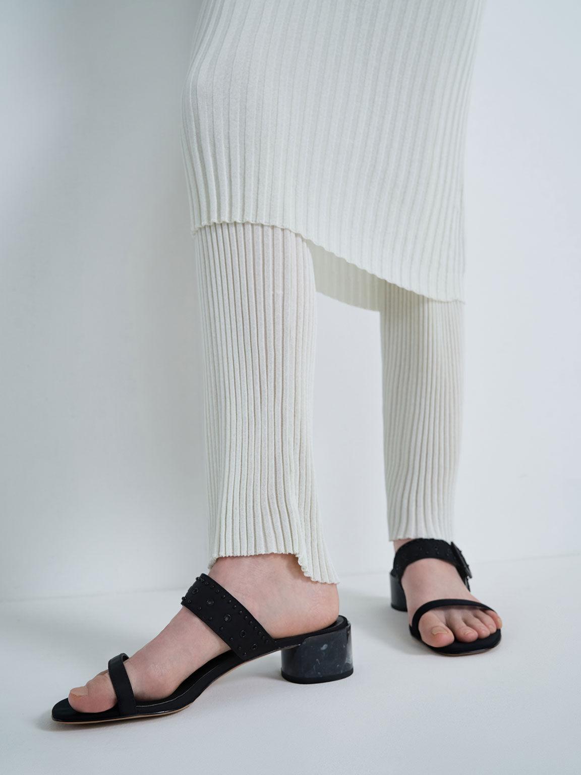 週年限定款:Sepphe 渲染粗跟拖鞋, 黑色, hi-res
