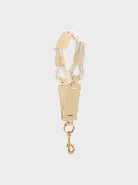 Rope Detail Bag Strap, Yellow, hi-res