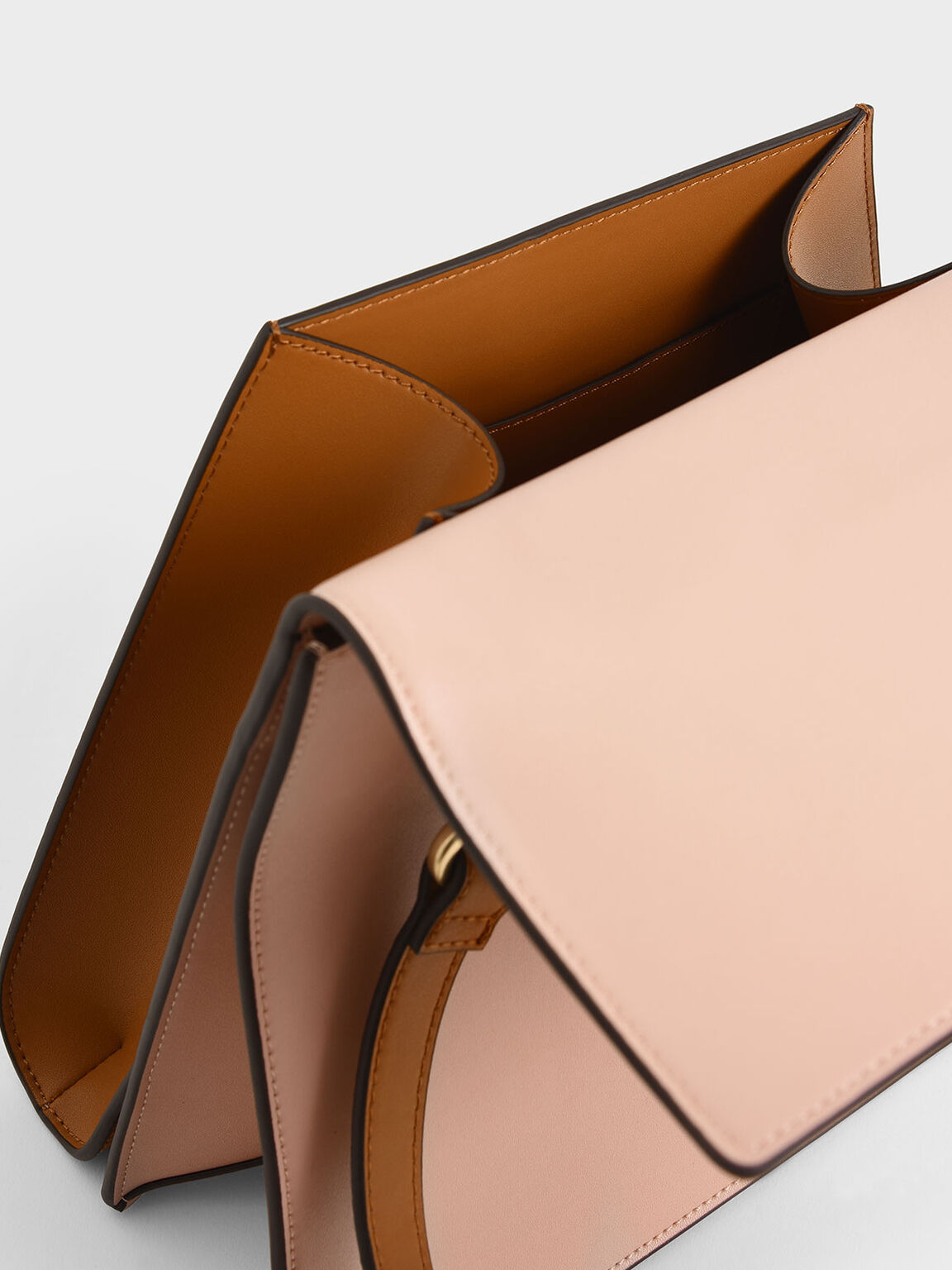 Two-Tone Sculptural Bag, Pink, hi-res
