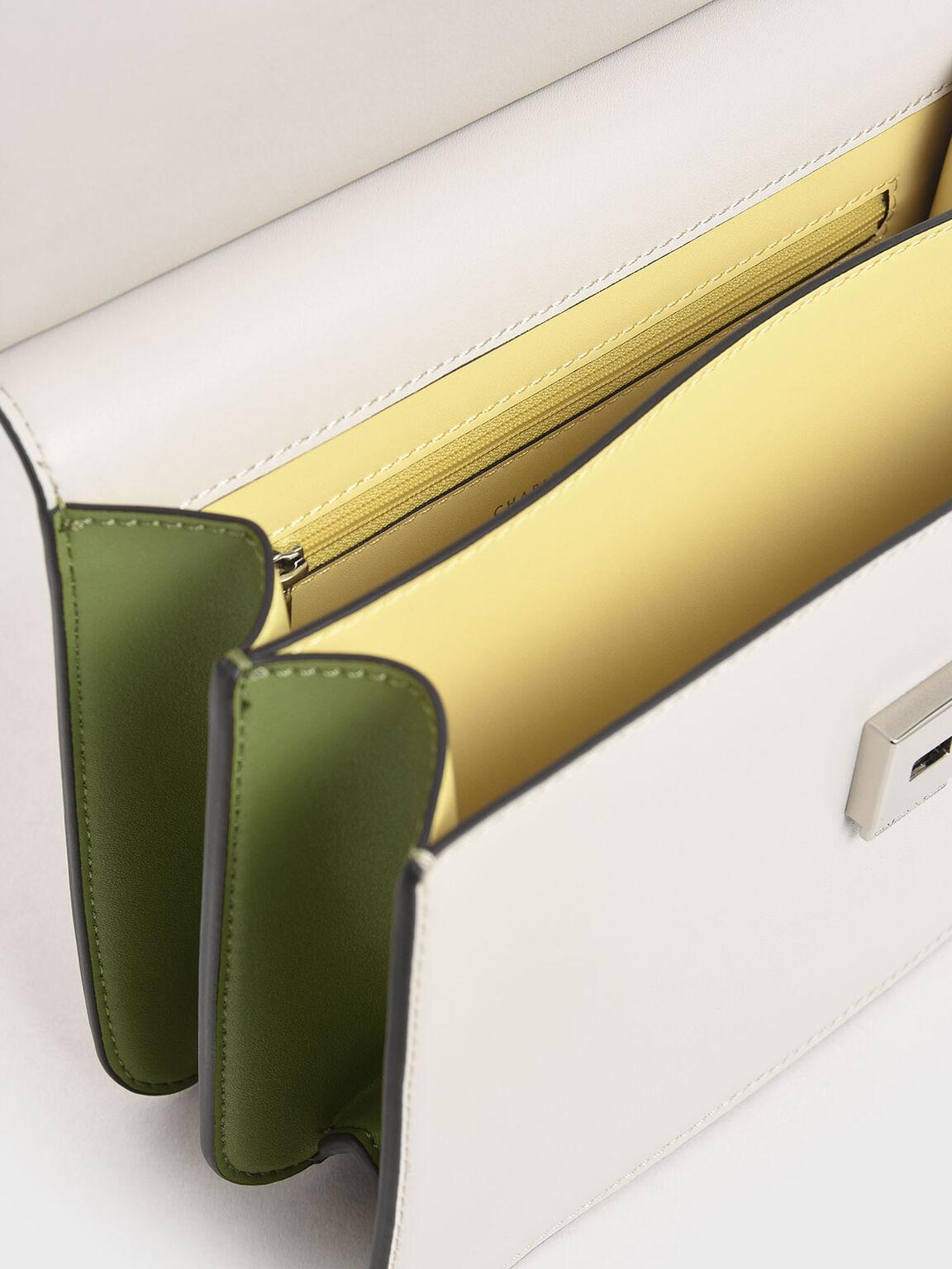 Acrylic Tortoiseshell Top Handle Bag, Multi, hi-res