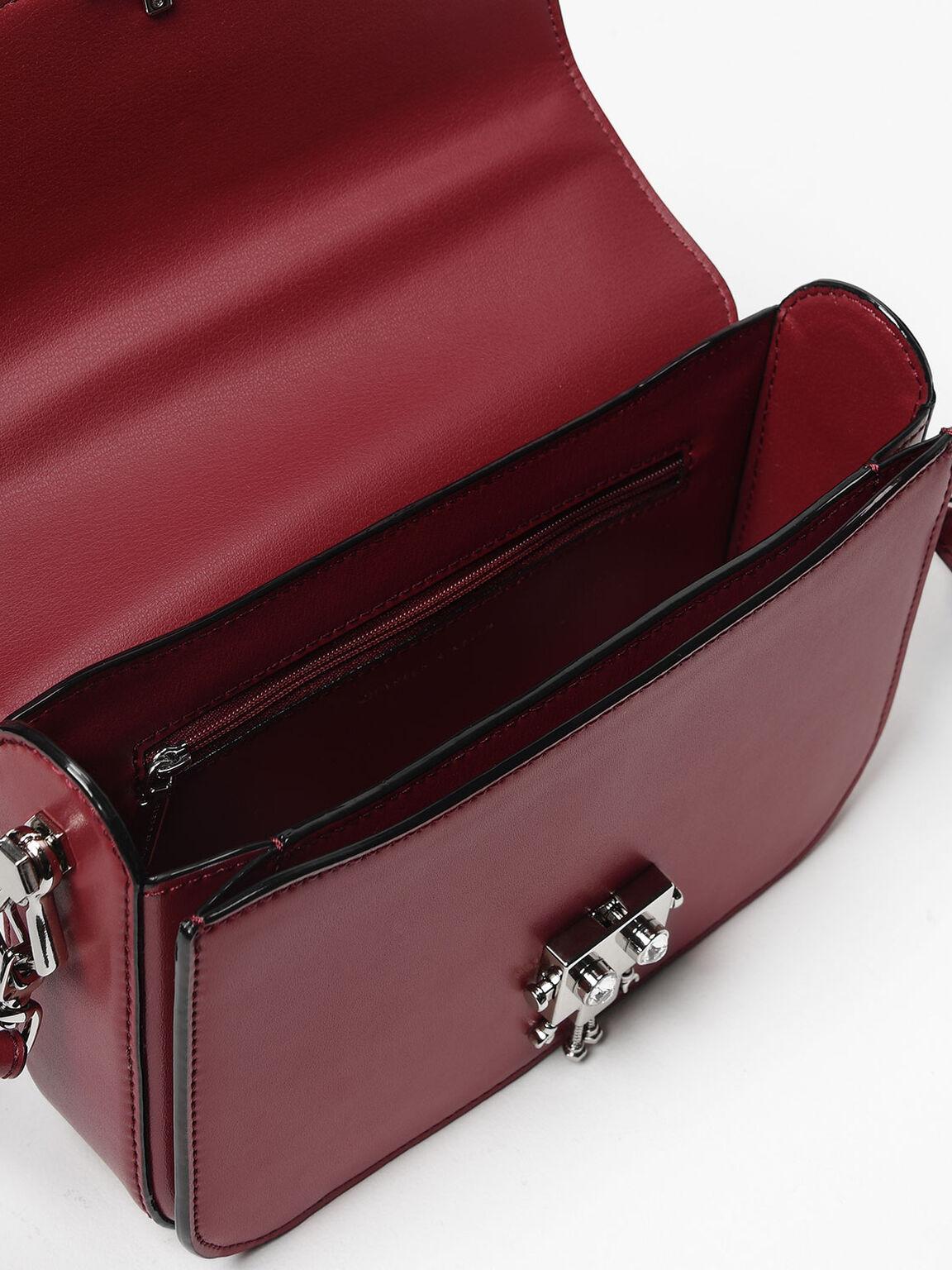 Robot Detail Push-Lock Bag, Maroon, hi-res