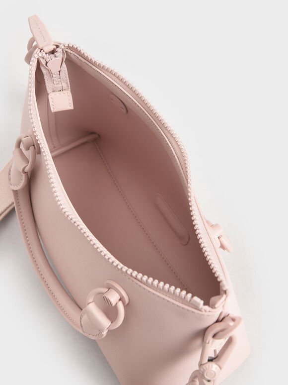 Double Handle Shoulder Bag, Light Pink, hi-res