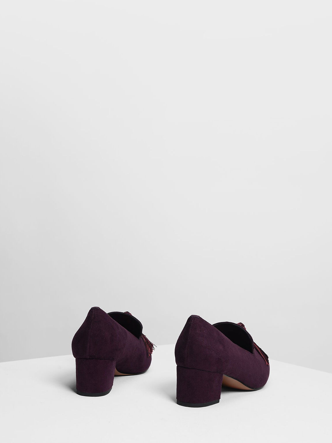 태슬 디테일 힐 로퍼, Purple, hi-res