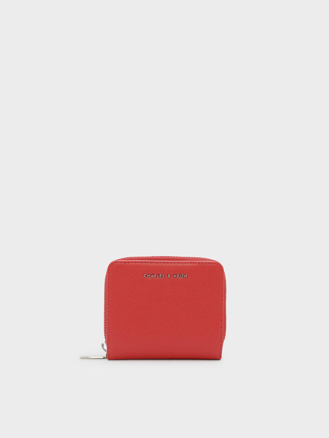 Zipped Small Wallet, Red, hi-res