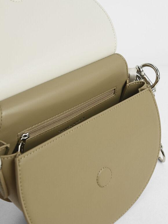 Satin Scarf Semi Circle Bag, Multi, hi-res