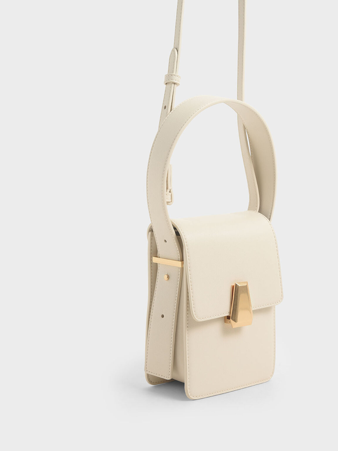 Elongated Front Flap Bag, Chalk, hi-res