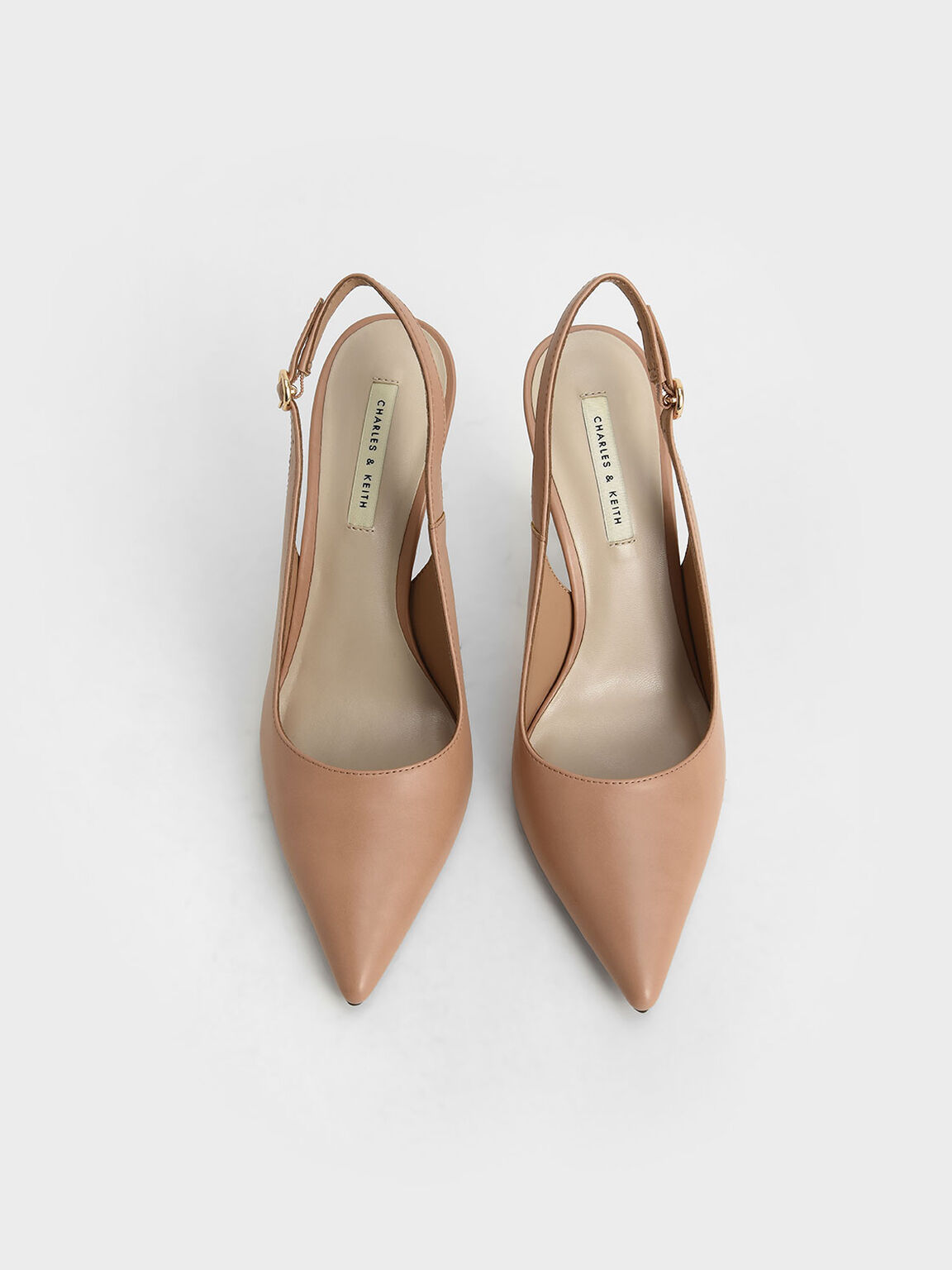 Slingback Stiletto Pumps, Nude, hi-res