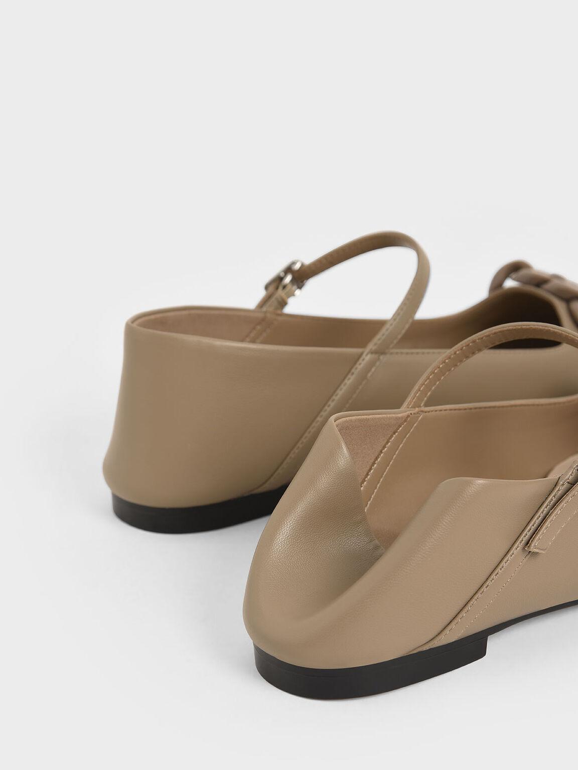 編織帶瑪莉珍鞋, 灰褐色, hi-res