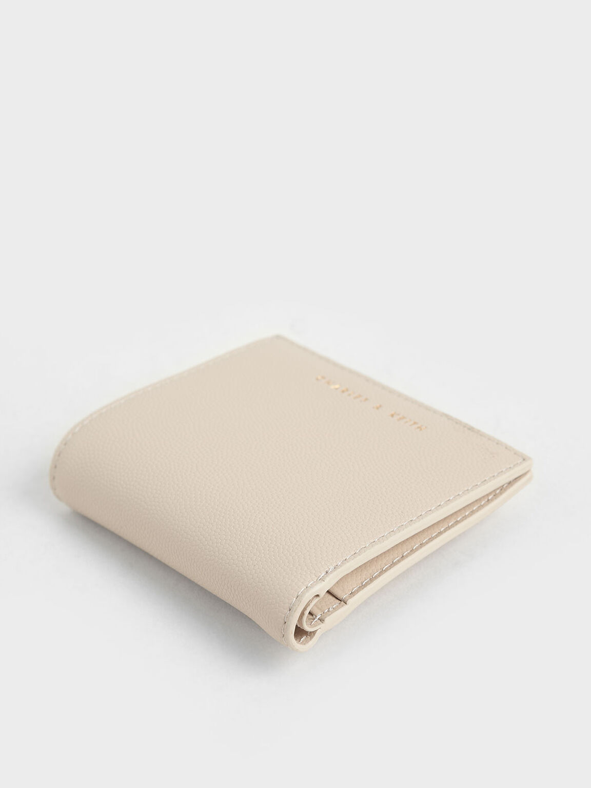 Square Small Wallet, Ivory, hi-res