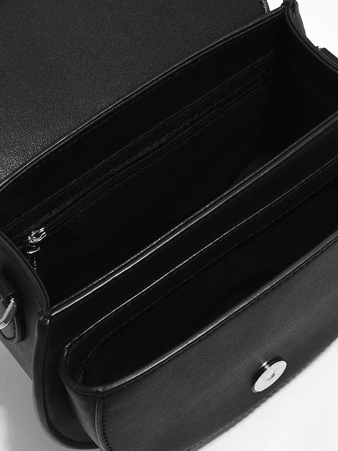 Tassel Saddle Bag, Black, hi-res