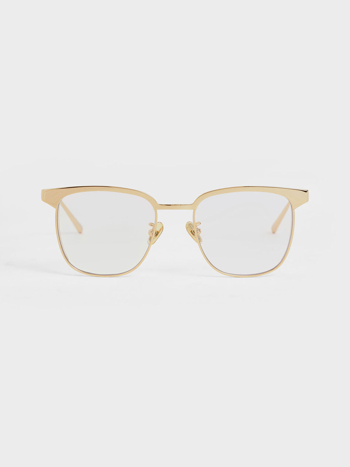 Tinted Rectangular Sunglasses, White, hi-res